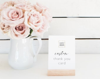 ADD ON Thank You Card to Match any Design in the Shop