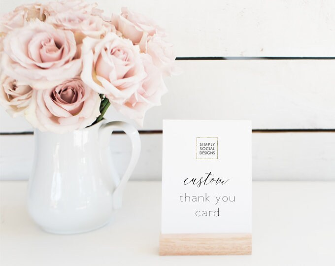 Featured listing image: ADD ON Thank You Card to Match any Design in the Shop