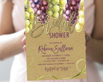 Wine Bridal Shower Invitation