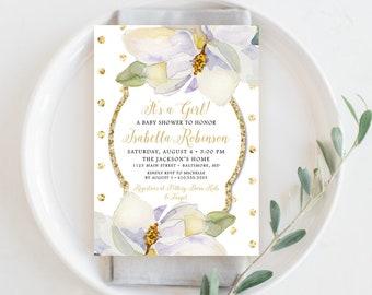 Magnolia Baby Shower Invite