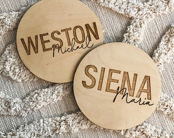 Wooden Baby Name Sign, Wood Newborn Name Prop, Birth Hospital Sign, Personalized Baby Name Sign, Custom Name Reveal Sign, Birth Announcement