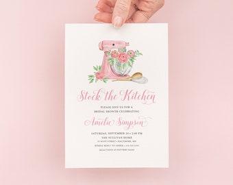Pink Mixer Stock the Kitchen Bridal Shower Invitation