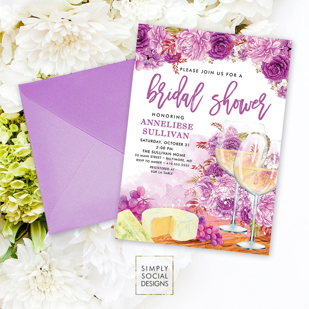 wine bridal shower invitation wine tasting invitation sip and see invitation wine and cheese party wine invitation printable invitation