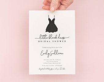 Little Black Dress Bridal Shower Invitation - LBD Bridal Shower Invite - LBD Bachelorette Party Invite
