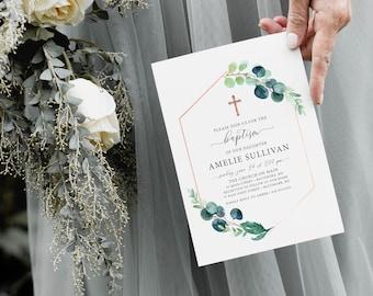 Olive Branch Baptism Invitation