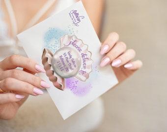 Mermaid Birthday Party Printed Envelopes