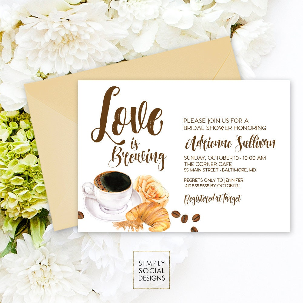 love is brewing coffee bridal shower invitation but first coffee bridal shower coffee beans cupcake croissant cupcake printable invitation