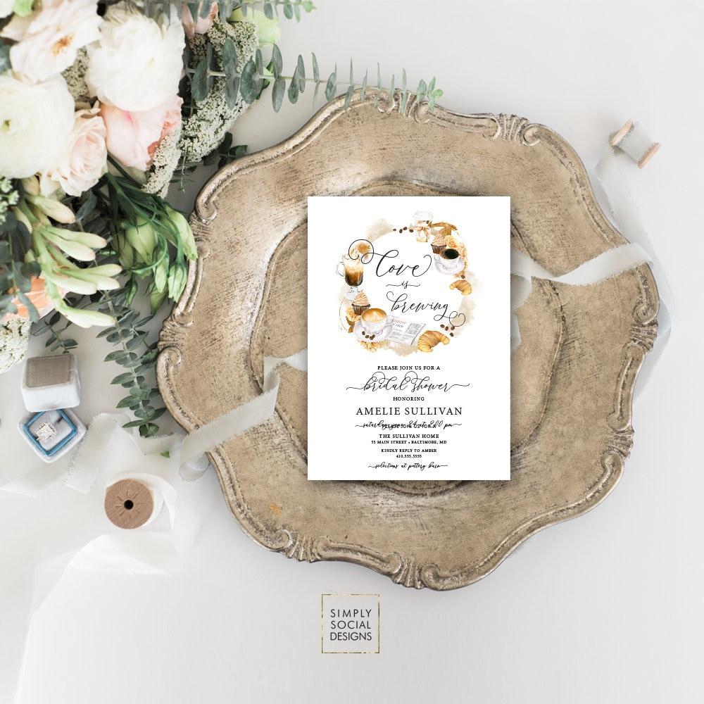 ae24dfc0b039 Coffee Bridal Shower Invitation