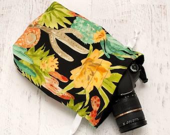DSLR Camera Bag - Camera Strap - Gifts for Photographer - Camera Bags for Women - Camera Accessories - Canon Camera Strap - Night Cactus Bag