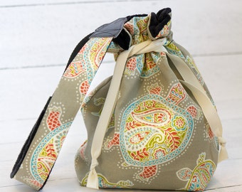 Camera Bag - DSLR Camera Bag for Women - Turtle Gifts - Sea Turtle - Gifts for Photographer - Camera Strap - Sassy Sack - Khaki Turtle