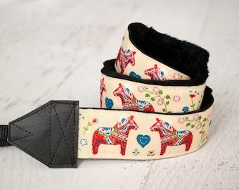 Camera Strap - DSLR Camera Strap - Photographer Gift - Birthday Gift - Donkey - Dala Horse - READY to SHIP