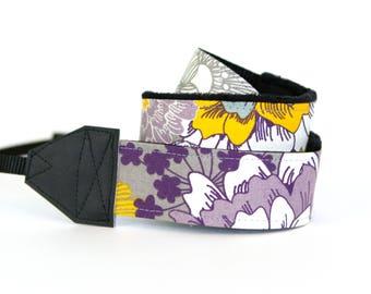 DSLR Camera Strap - Purple Camera Straps - Padded Camera Strap - Camera Neck Strap - Photographer Gift - Nikon- Brushed Lilac- READY to SHIP