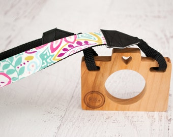 Toy Camera - Wooden Toy Camera - Photographer Props - Beautifully Bright Child's Camera