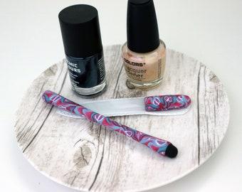 Manicure Purse Accessories Set, Nail File + Stylus Matching Set