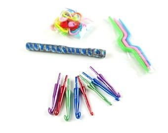 Crochet Hook Set, Interchangeable Crochet Hooks, Blue Gem Crochet Set