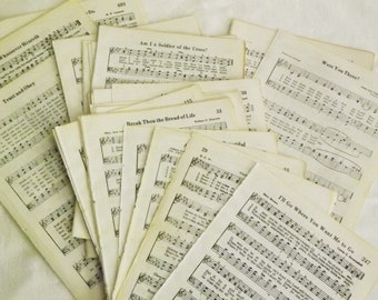Old hymn pages   Etsy