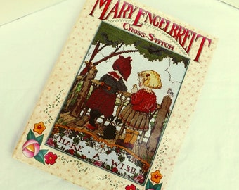 Mary Engelbreit Cross Stitch, vintage cross stitch patterns mary engelbreit, cross stitch patterns book Make A Wish, cross stitch projects