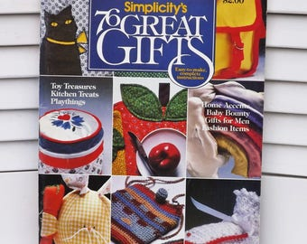 Simplicity's 76 Great Gifts, Vintage pattern book 1979, Simplicity Patterns - Home Accents, Baby, Fashion, Patterns for Handmade Gifts