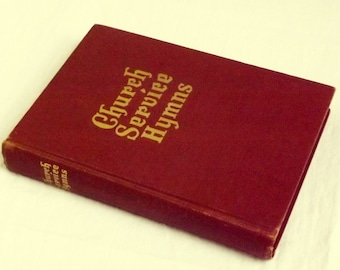 Church Service Hymns 1948 Rodeheaver, Hymns & Gospel Songs, Vintage Hymnal, Christian Hymn Book, old gospel hymn book, Church Song Book