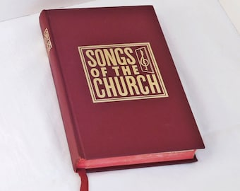 Vintage Christian Hymn Book, Christian Song Book, Church of Christ Hymnal, 1970s hymn book, Book of Hymns, Worship songs music and lyrics