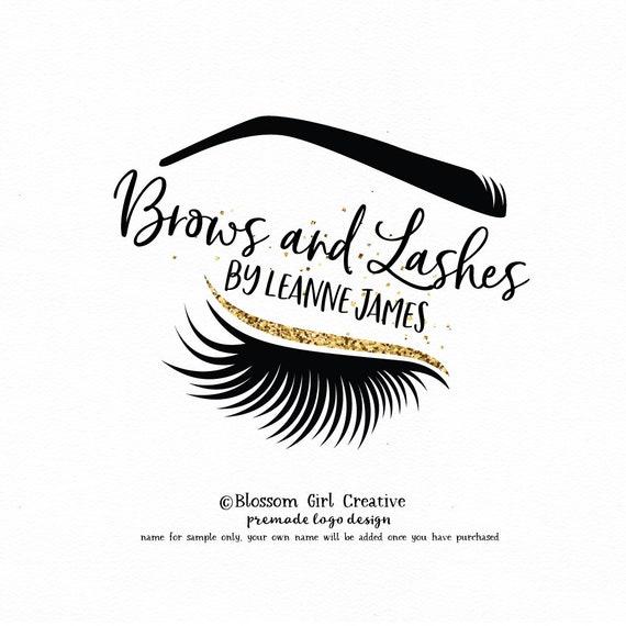 eyebrow logo eyelash logo lash extensions logo microblading logo make-up  logo premade logo makeup logo eyebrows lashes logo brow artist logo