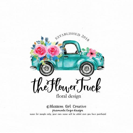 Truck Logo Vintage Truck Logo Wedding Planner Logo Event