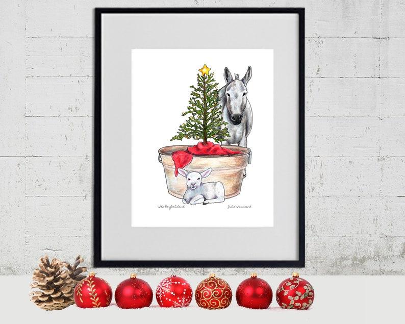 Jesus is the Perfect Lamb Christmas Tree Vintage Washtub image 0