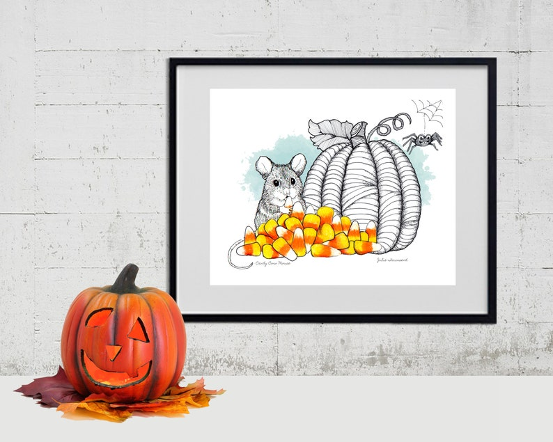 Candy Corn Mouse Print Candy Corn Halloween Candy Poster image 0