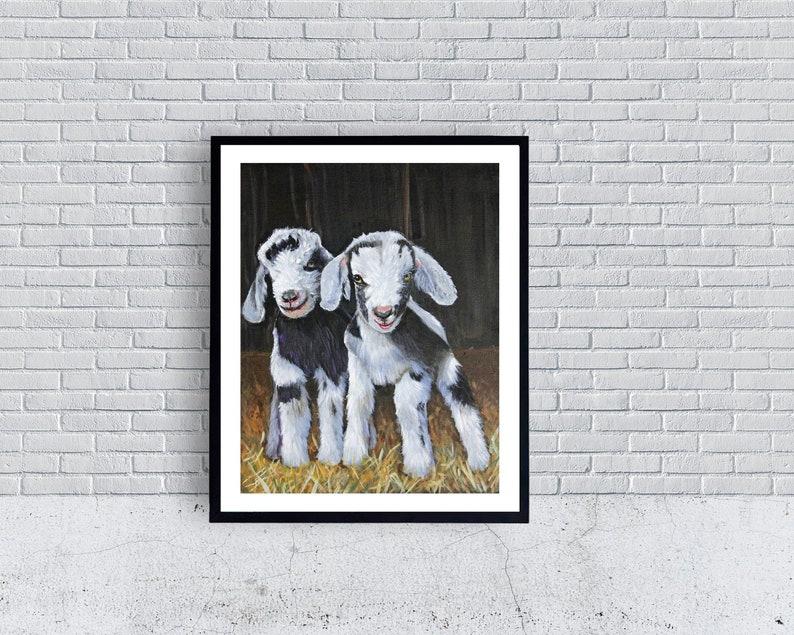 Goat Print Baby Goats Goat Farm Goats Kids Twins Goat image 0