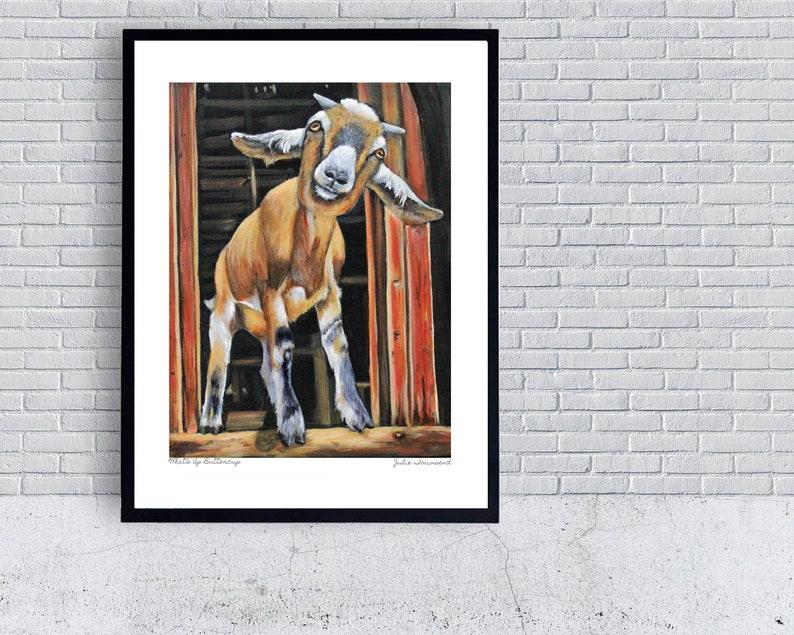 Goat Print Baby Goats Goat Farm Goat Kids Goat Poster image 0