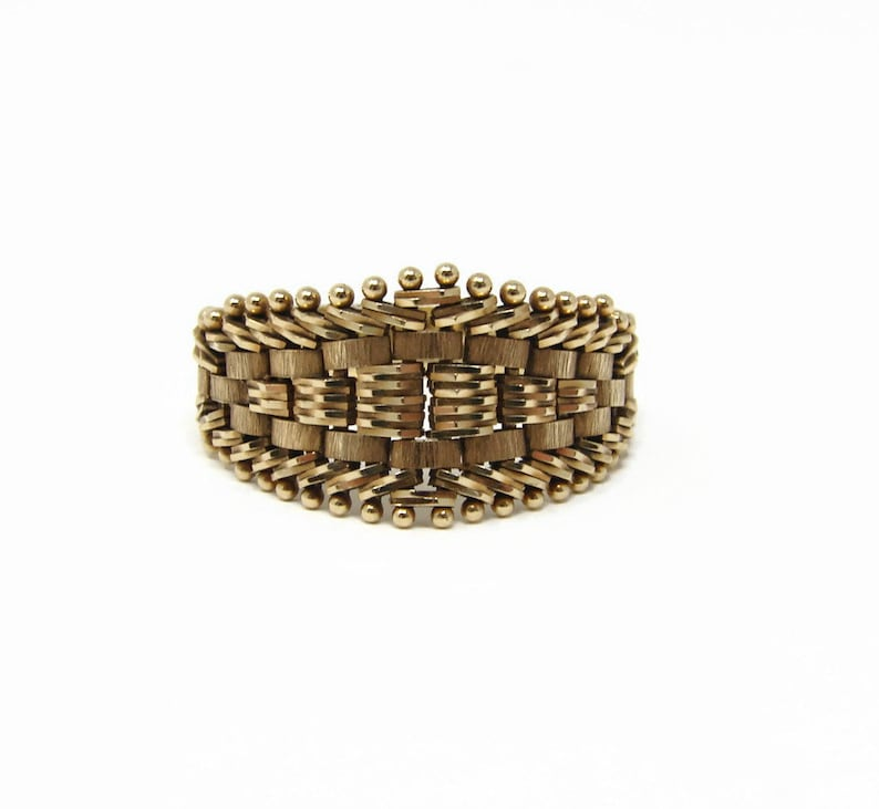 14K Yellow Gold Mesh Ring Size 9.5 Imperial Gold image 0