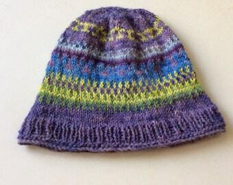 Handknitted alpaca winter hat