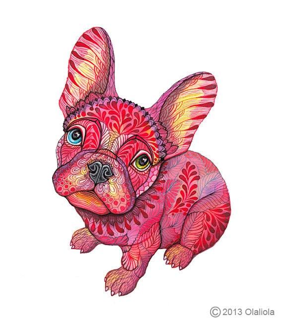 Französische Bulldogge Himbeere Frenchie Hund Größe 8x Etsy