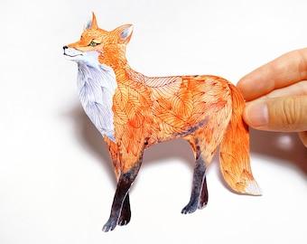Garden Fox sticker 100% waterproof animal vinyl label.