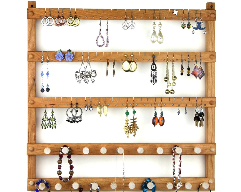 bijoux porte pr sentoir de boucle doreille cerise mural etsy. Black Bedroom Furniture Sets. Home Design Ideas
