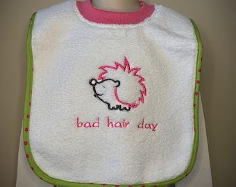 Bad hair day popover bib