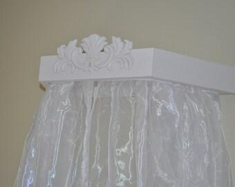 Bed cornice,Crib Canopy, Crown Cornice Ready to ship