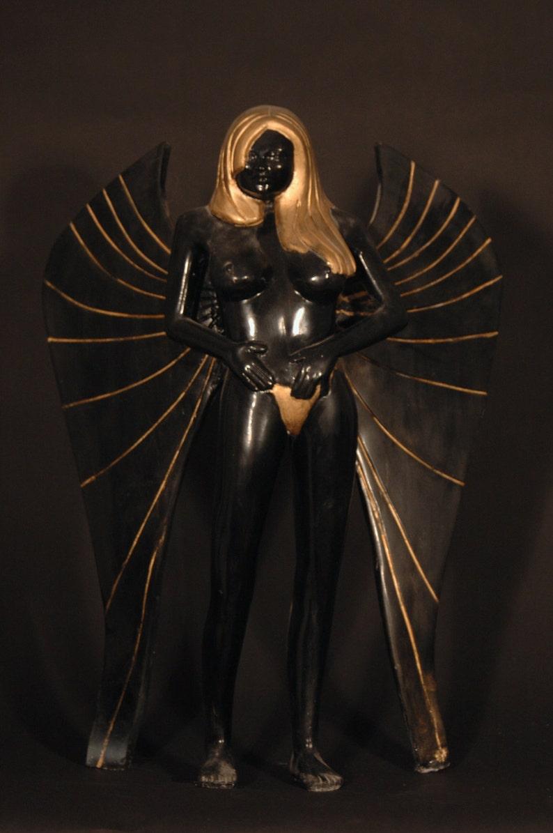 Nude angel sculpture adult fantasy figurine fine art | Etsy