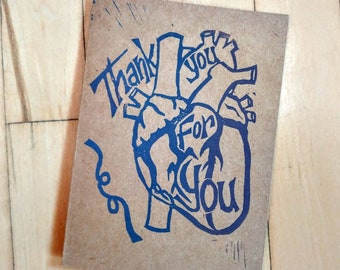 Thank You for You - Heart Card - Gratitude Greeting - Quarantine/Isolation/Pandemic