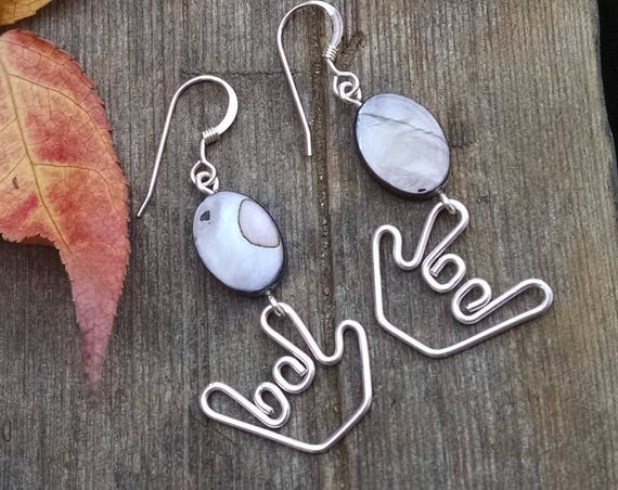 Agate and ILY Earrings