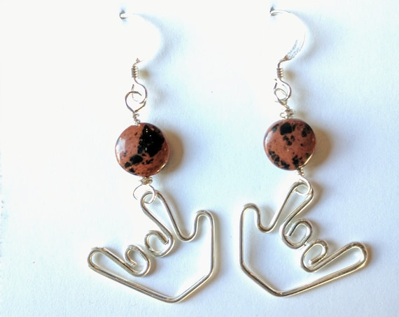 ILY Earrings and small agate stone