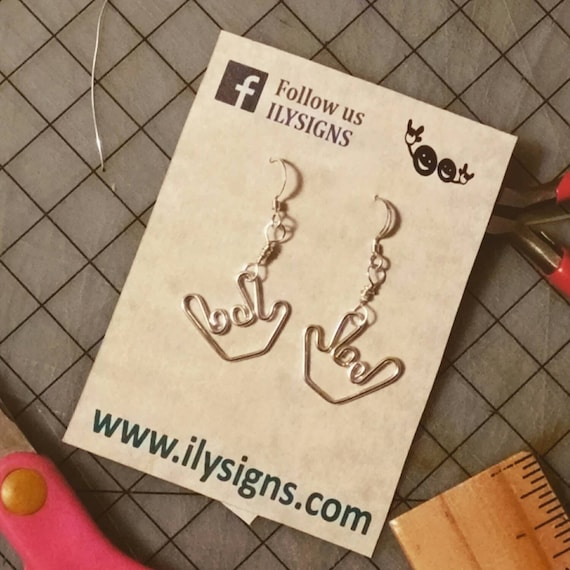 I Love You - in Sign Language Earrings
