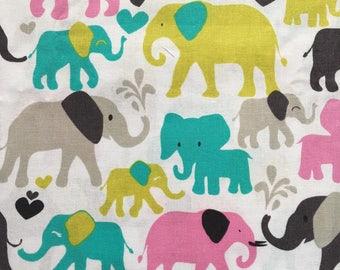 Elephants Splash - Fabric -67 inches - Rare - OOP -