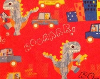 City Dinosaur - Roar - FLANNEL - 29 inches