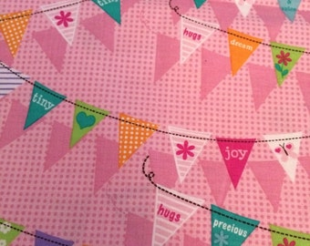 Sweet Baby Girl Bunting Banners - Quilting Cotton