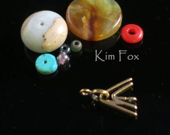 Double V Clasp in Golden Bronze by Kim Fox