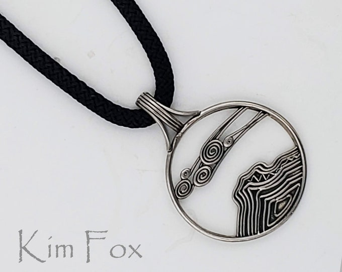 KFP407 Sedona Bell Rock Sedona Pendant in Solid Sterling Silver or Solid Golden Bronze designed by Kim Fox