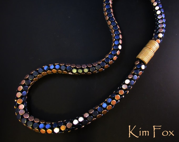 Kumihimo Pattern with Czech Button Beads - 2 variations