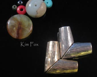 V Magnetic Clasp in Bronze and Sterling Silver suitable for necklaces designed by Kim Fox