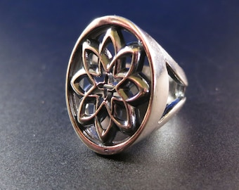 Desert Flower Ring in Sterling Silver designed by Kim Fox